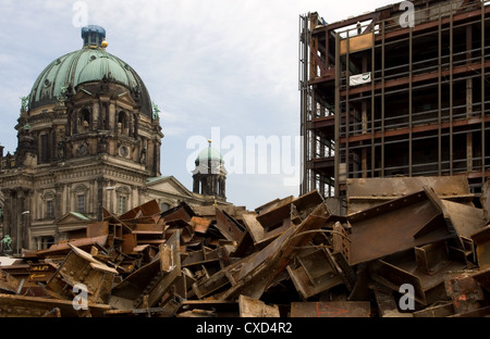 The remains of the Palast der Republik, Berlin - Stock Photo