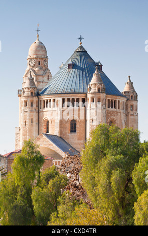 Dormition Abbey (Hagia Maria Sion Abbey), Mount Zion, Room of the Last Supper, Jerusalem, Israel, Middle East - Stock Photo