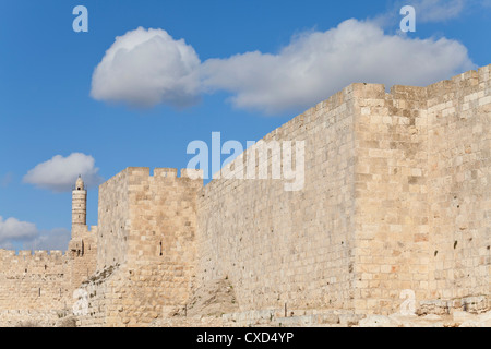 Citadel (Tower of David), Old City Walls, UNESCO World Heritage Site, Jerusalem, Israel, Middle East - Stock Photo