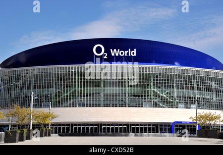 The O2 World Arena in Friedrichshain Müehlenstrasse Berlin Germany - Stock Photo
