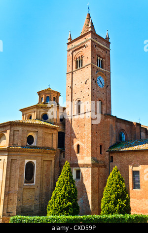 Benedictine Abbey of Monte Oliveto Maggiore in Tuscany (Italy) - Stock Photo