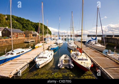 Summer at Avoch Harbour on the Moray Firth - Stock Photo