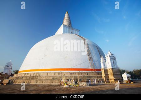 Ruvanvelisaya Dagoba, Anuradhapura, UNESCO World Heritage Site, North Central Province, Sri Lanka, Asia - Stock Photo