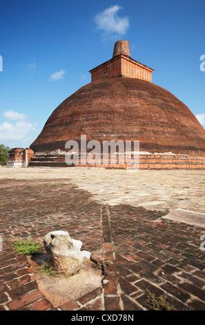 Jetavanarama Dagoba, Anuradhapura, (UNESCO World Heritage Site), North Central Province, Sri Lanka - Stock Photo