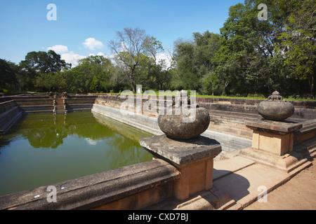 Kuttam Pokuna (Twin Ponds), Northern Ruins, Anuradhapura, UNESCO World Heritage Site, North Central Province, Sri - Stock Photo