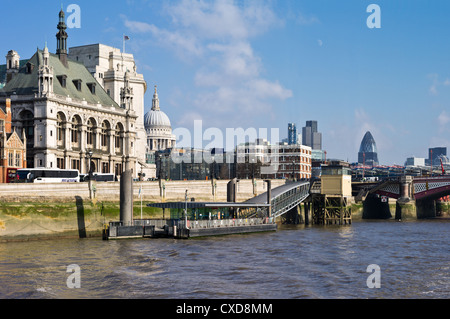 UK, London seen from the Thames river, the Blackfriars area - Stock Photo