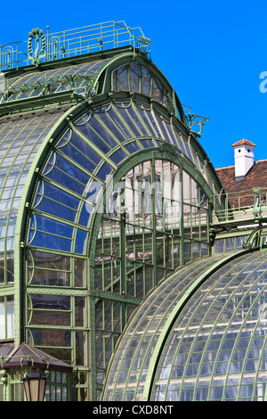 Architectural details of Palmenhaus and Hofburg palace in Vienna - Stock Photo