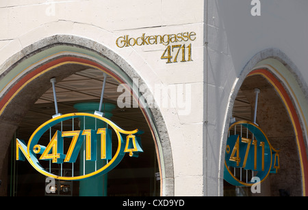 Entrance of the original building of 4711, Eau de Cologne, Glockengasse street, Cologne, Germany, Europe - Stock Photo