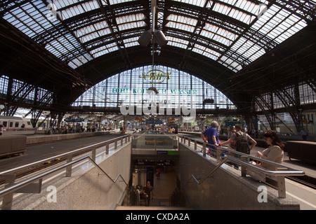 Main train station, Deutsche Bahn AG, Cologne, Germany, Europe - Stock Photo