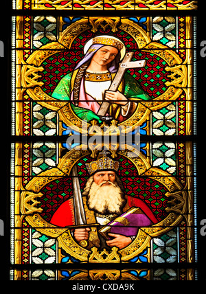 Flavia Iulia Helena or Holy Helena, Karolus Magnus, Charlemagne, Carl the Great,  Cologne Cathedral, Germany, Europe - Stock Photo