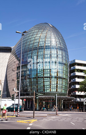 Weltstadthaus with a glass facade by the architect Renzo Piano, Schildergasse street, Cologne, North Rhine-Westphalia, - Stock Photo