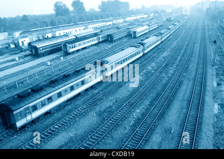 train maintenance field - Stock Photo