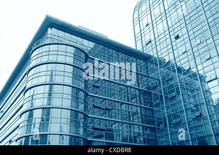 glass curtain wall building - Stock Photo