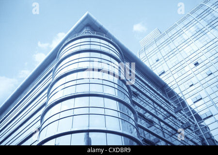 modern glass curtain wall building - Stock Photo