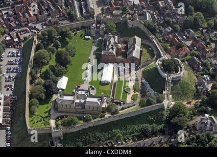 aerial view of Lincoln Castle