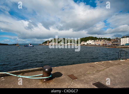 View Across Oban Bay From The North Pier Oban Argyll and Bute Scotland - Stock Photo