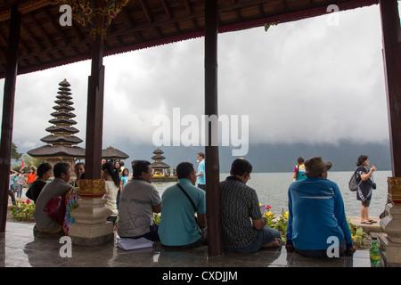 Pura Ulun Danu Bratan (Hindu-Buddhist Temple) - Candi Kuning - Bali - Indonesia - Stock Photo