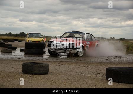 Opel Manta and Vauxhall Nova rally cars - Stock Photo