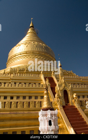 Shwezigon Paya, Bagan (Pagan), Myanmar (Burma), Asia - Stock Photo