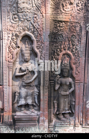 Ta Prohm, Angkor Archaeological Park, UNESCO World Heritage Site, Siem Reap, Cambodia, Indochina, Southeast Asia, - Stock Photo