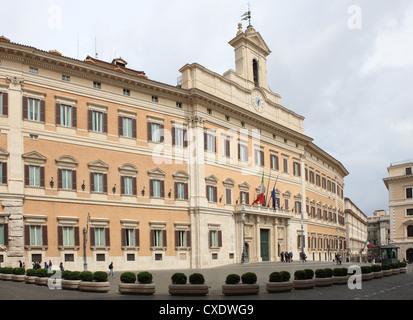 Palazzo Montecitorio, Camera dei Depudati, Rome, Lazio, Italy, Europe - Stock Photo