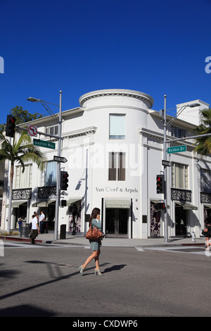 Rodeo Drive, Beverly Hills, Los Angeles, California, USA - Stock Photo