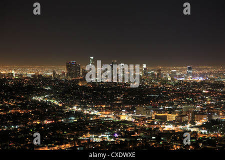 Downtown, Hollywood at night, Los Angeles, California, United States of America, North America - Stock Photo