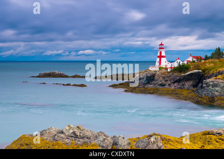 East Quoddy (Head Harbour) Lighthouse, Campobello Island, New Brunswick, Canada, North America - Stock Photo