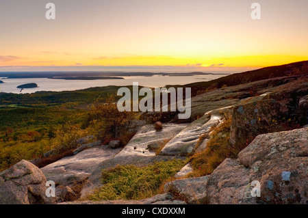 View from Cadillac Mountain, Acadia National Park, Mount Desert Island, Maine, New England, United States of America - Stock Photo