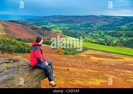 Stanage Edge, Peak District National Park, Derbyshire, England - Stock Photo