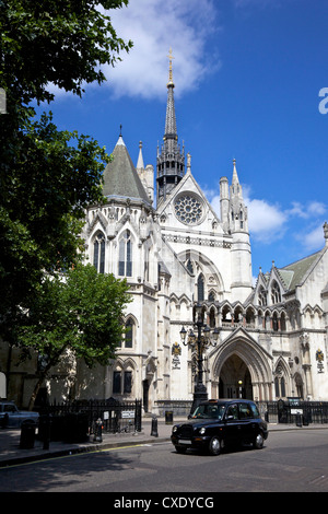 Royal Courts of Justice, City of London, England, United Kingdom, Europe - Stock Photo