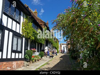 The Mermaid Inn, Mermaid Street, Rye, East Sussex, England, United Kingdom, Europe - Stock Photo