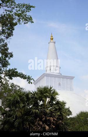 Ruwanweliseya, Maha Thupa, or Great Stupa, Unesco World Heritage Site, Anuradhapura, Sri Lanka, Asia - Stock Photo