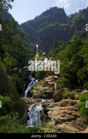 Rawana Ella Falls, Sri Lanka, Asia - Stock Photo