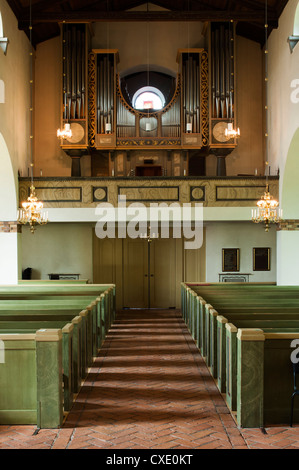 The organ in Boo kyrka (Boo church), Nacka, Sweden - Stock Photo
