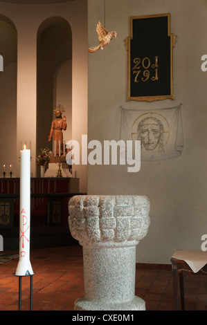 Boo kyrka (Boo church), Nacka, Sweden - Stock Photo