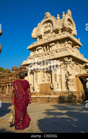 Kailasanatha temple dating from the 8th century, Kanchipuram, Tamil Nadu, India, Asia - Stock Photo