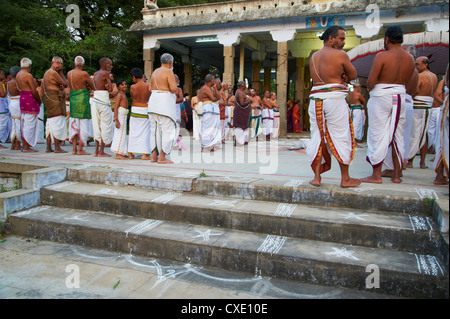 Devarajaswami temple, Kanchipuram, Tamil Nadu, India, Asia - Stock Photo
