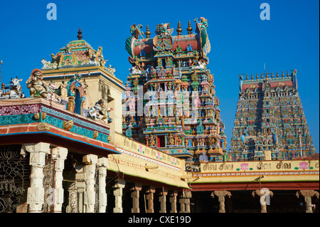 Sri Meenakshi temple, Madurai, Tamil Nadu, India, Asia - Stock Photo