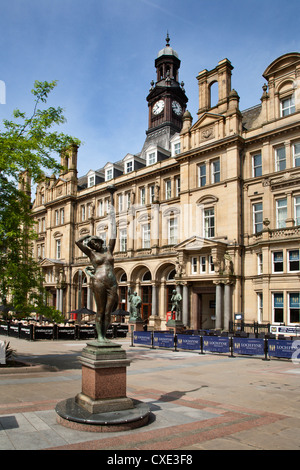 Old Post Office Building in City Square, Leeds, West Yorkshire, Yorkshire, England, United Kingdom, Europe - Stock Photo