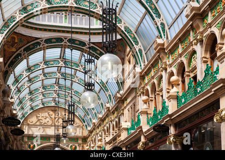 The County Arcade in the Victoria Quarter, Leeds, West Yorkshire, Yorkshire, England, United Kingdom, Europe - Stock Photo