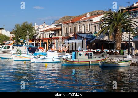 Harbour view, Pythagorion, Samos, Aegean Islands, Greece - Stock Photo