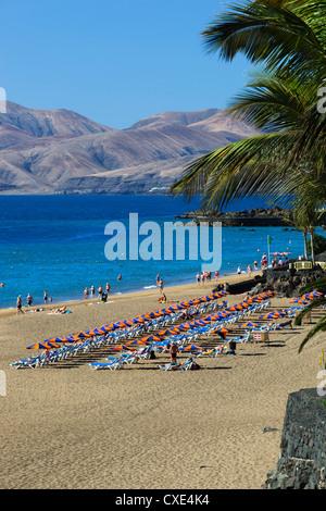 Playa Grande, Puerto del Carmen, Lanzarote, Canary Islands, Spain