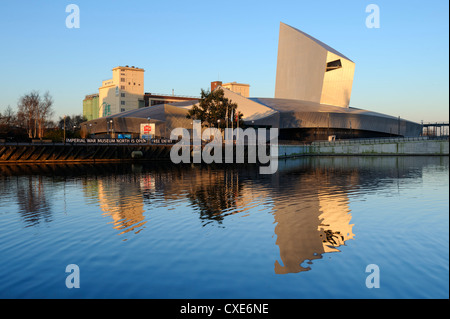 Imperial War Museum North, Salford Quays, Manchester, Greater Manchester, England, United Kingdom, Europe - Stock Photo