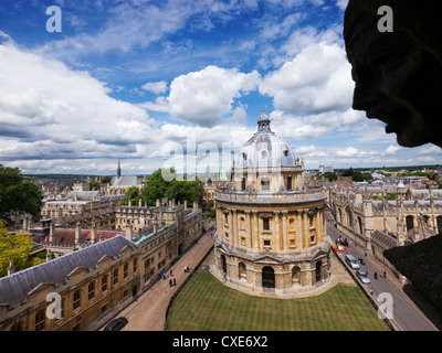 Elevated view of Radcliffe Camera, Oxford, Oxfordshire, England, UK - Stock Photo