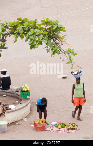 Street scenes in Luanda, Angola, Southern Africa, Africa - Stock Photo