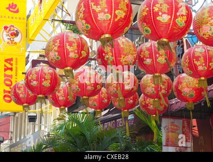 Chinese Lanterns, Chinatown, Kuala Lumpur, Malaysia - Stock Photo