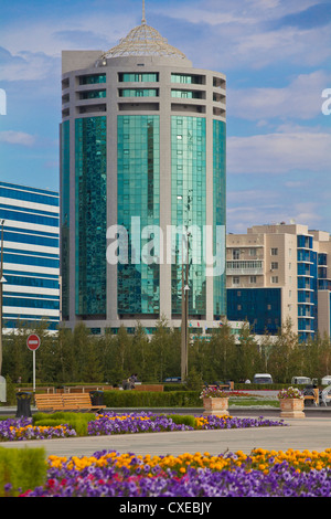 Nurzhol bulvar, central boulevard KazakhstanÕs new governmental administrative zone, Astana, Kazakhstan, - Stock Photo