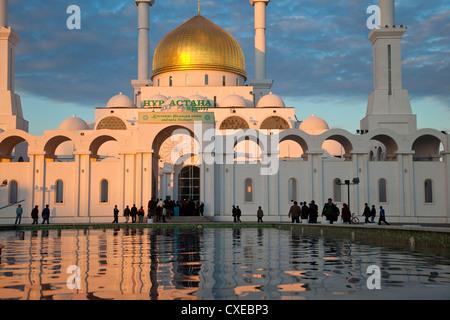Nur Astana Mosque, Astana, Kazakhstan, Central Asia, Asia - Stock Photo