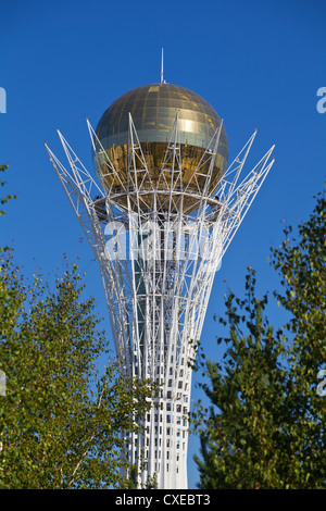 Bayterek Tower, Astana, Kazakhstan, Central Asia, Asia - Stock Photo